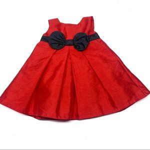 •,. Carter's Red valentines Holiday Dress A36